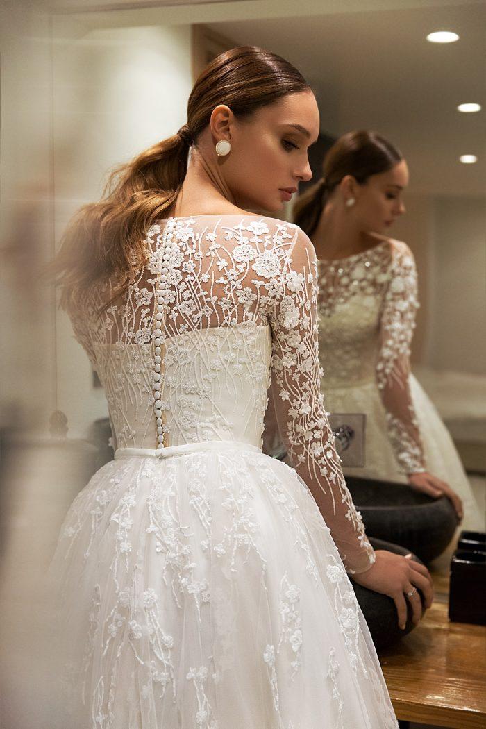 кружевное свадебное платье с закрытой спиной