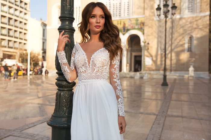 шифоновое свадебное платье для беременных