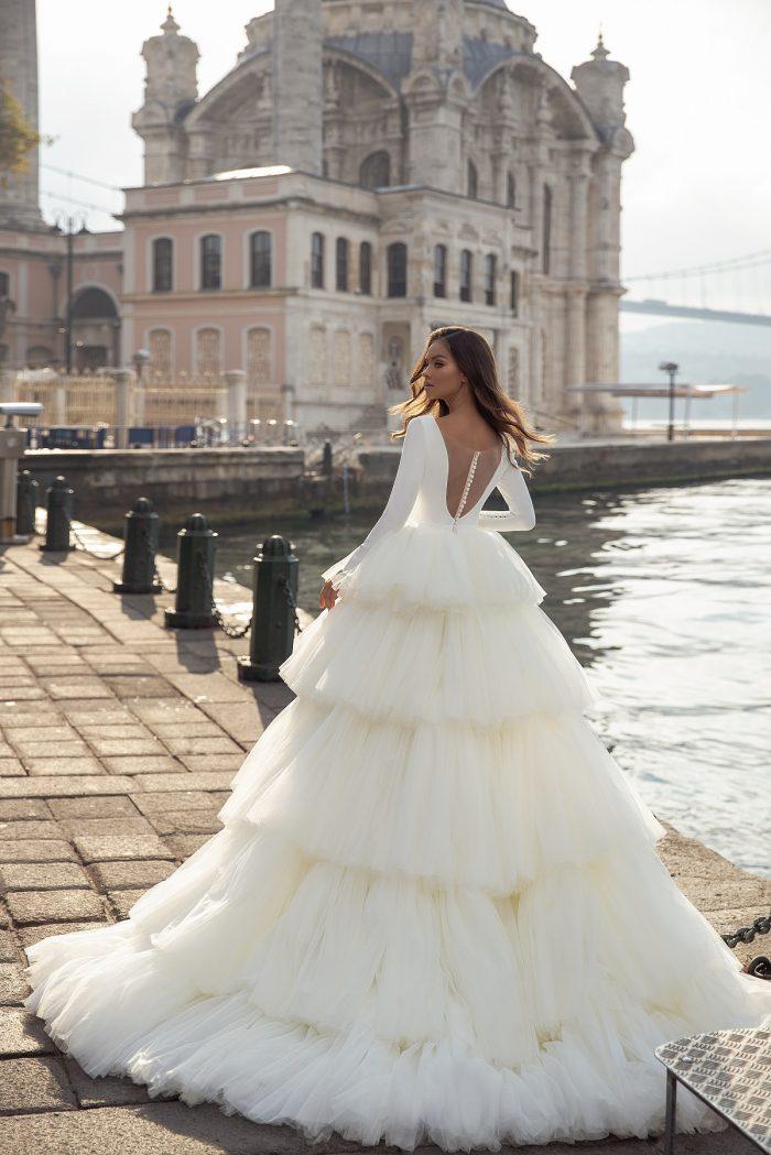 свадебное платье юбка воланами
