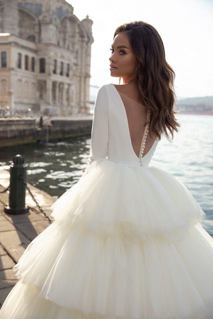 свадебное айвори платье пышная юбка