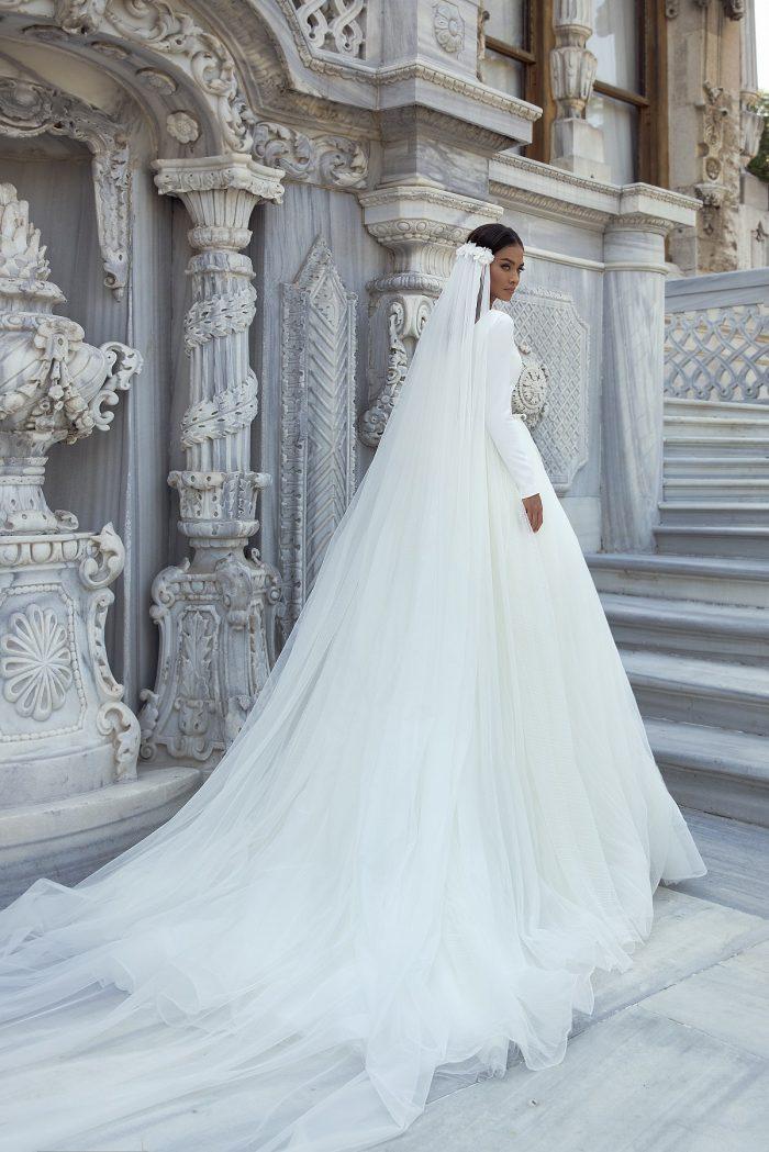 А-силуэт свадебное платье