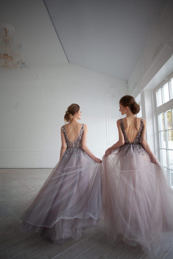 стильное платье с красивой спиной