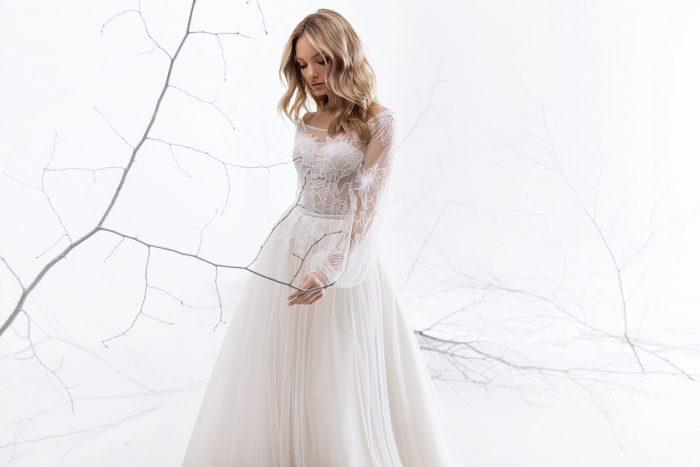 воздушное свадебное платье на роспись