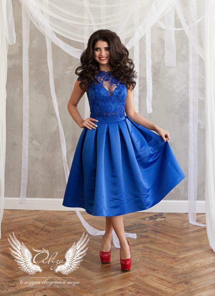 вечернее атласное платье Siviliya