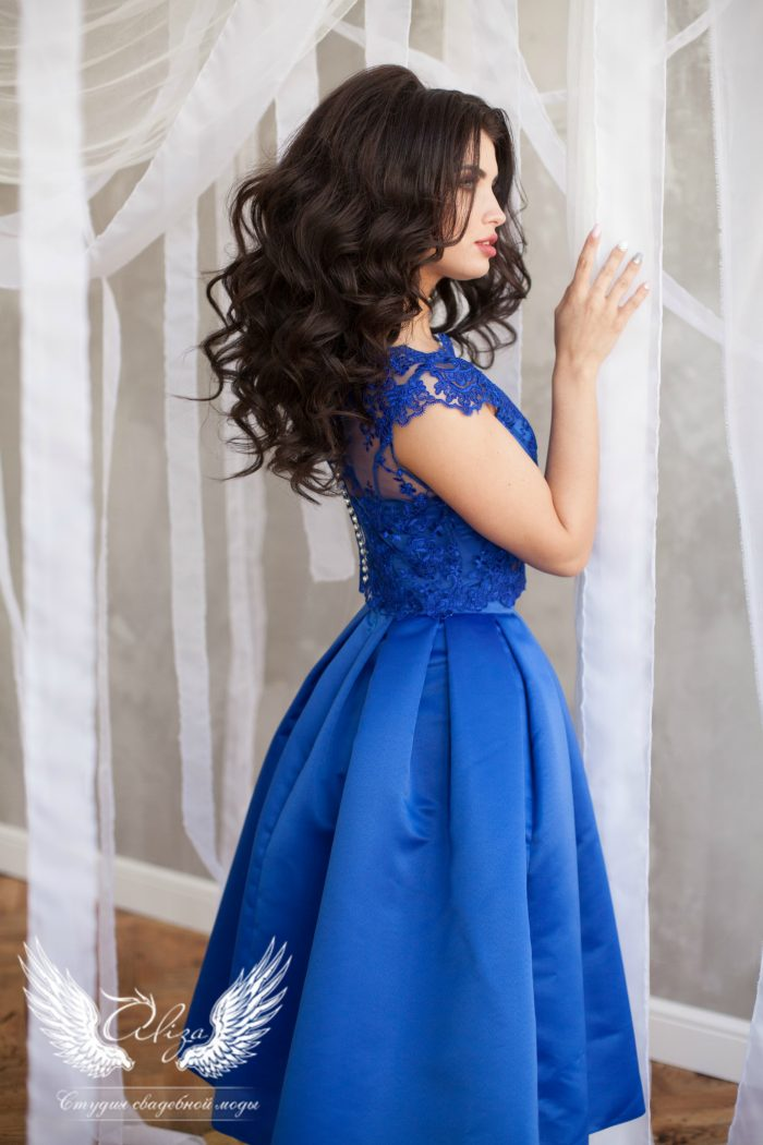 синее платье Siviliya