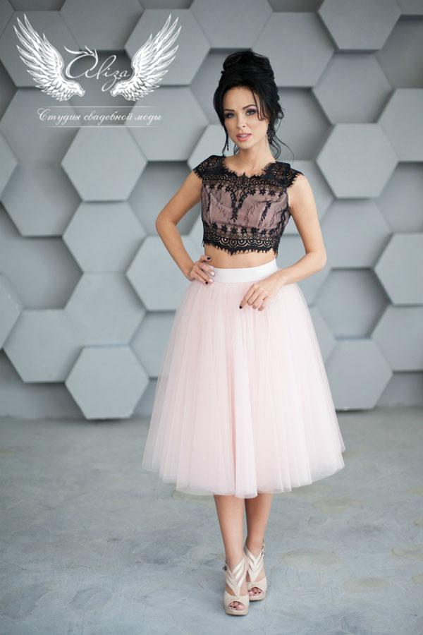 вечернее платье пудра Veronica Black