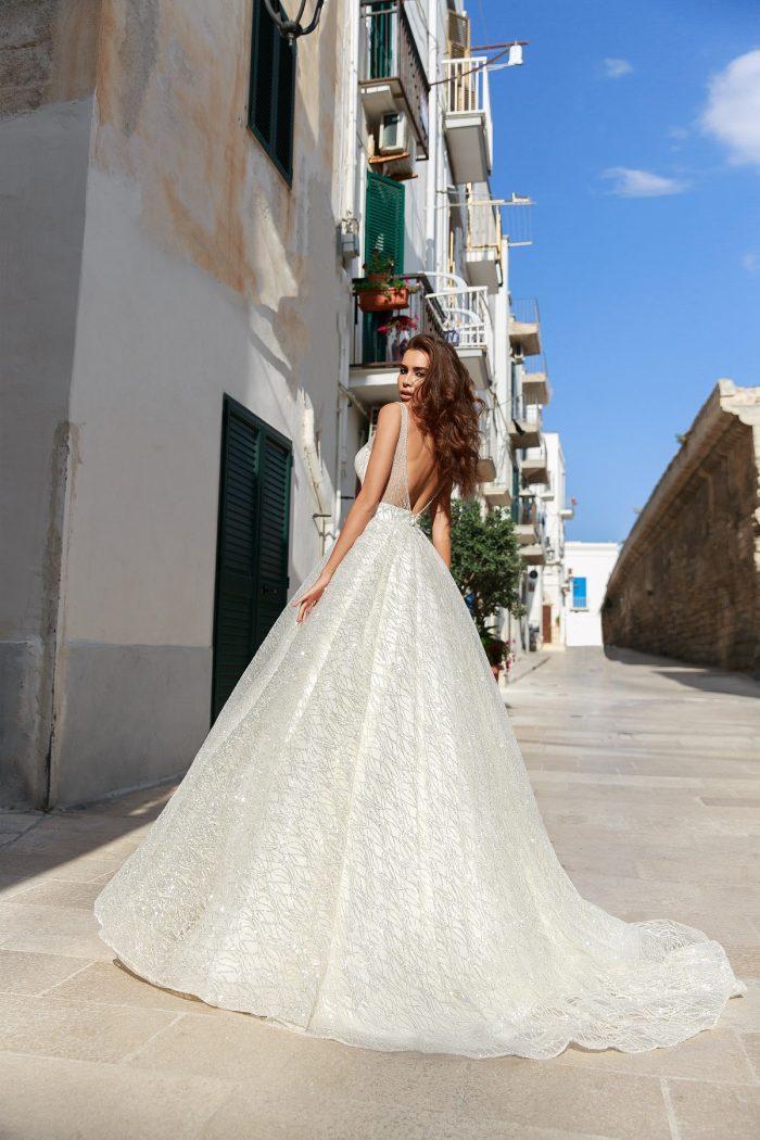 свадебное платье с блеском