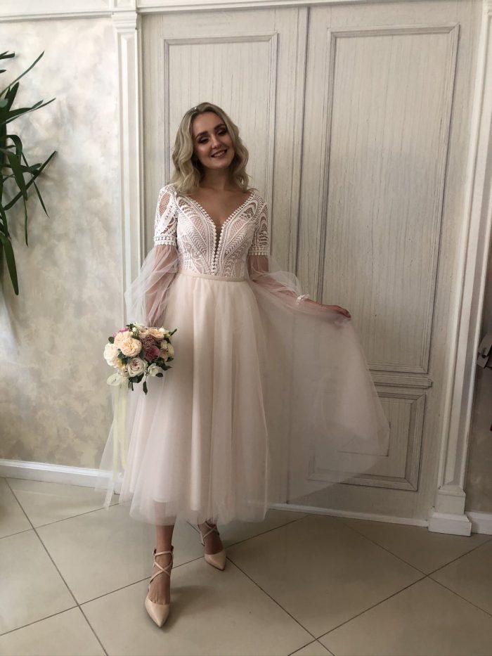 свадебное платье стиль бохо с отдельной юбкой