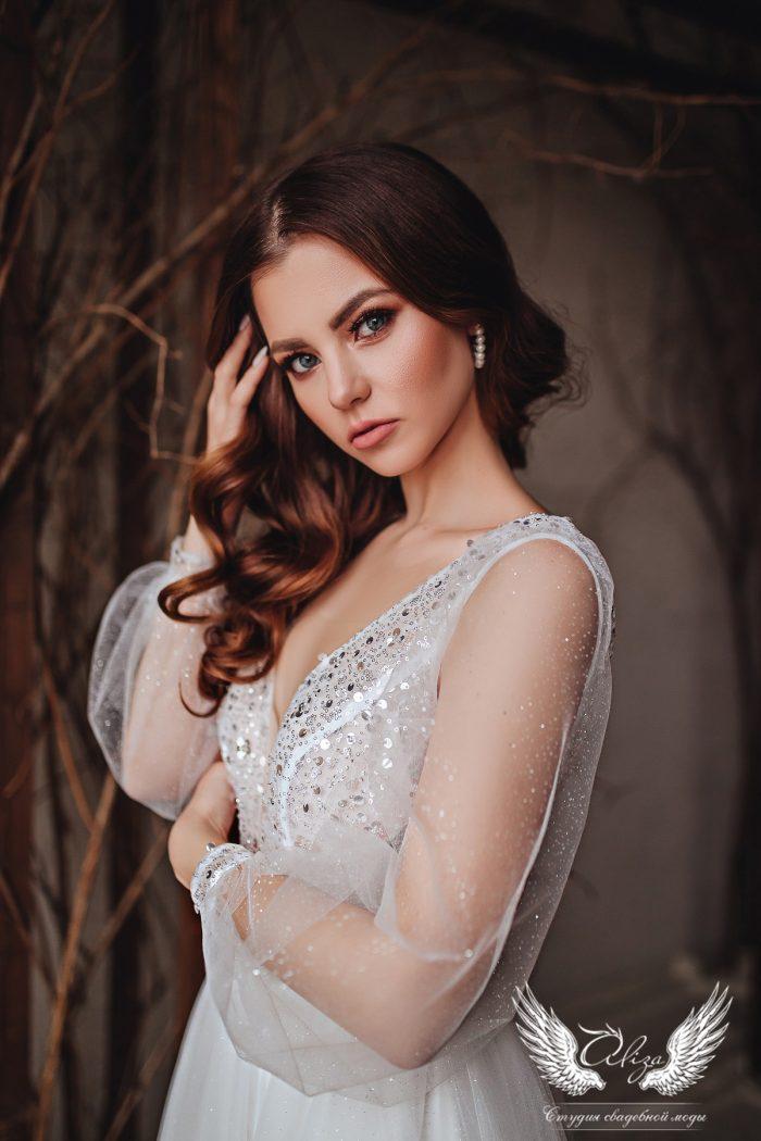 свадебное платье в миди